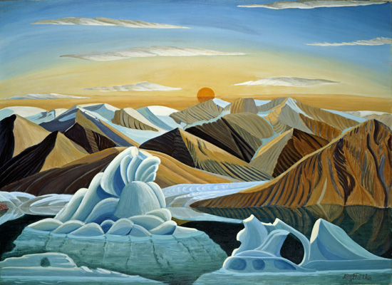 Canadian Art - a fine art giclee print on canvas reproduced from an  original oil painting by Donald Flather
