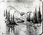 Donald Flather landscape sketch from 1937